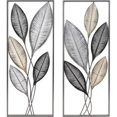 FirsTime FirsTime and Co.® Metallic Leaves Wall Decor Set at Lowe's. Wall decor is a great way to express your personal style within your home. Bring natural beauty indoors with the chic foliage of our FirsTime and Wall Decor Set, Metal Wall Decor, Silver Wall Decor, Metal Plaque, Art Mural, Metal Walls, Metal Ceiling, Wall Plaques, Candle Making