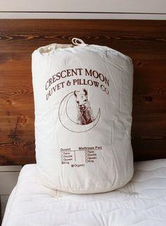 riva's . crescent moon - alpaca wool + organic cotton duvet : twin / queen