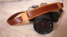 Handmade adjustable leather Camera Strap with neck pad by cindykuo on etsy