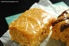 SALTED CARAMEL RICE KRISPY TREATS. You have to scroll down a bit to get to this recipe - there's another recipe above it.