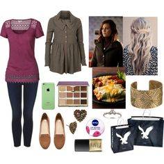 Shopping and Lunch with Cady-Louisa, Longmire OC by pianokeys2013 on Polyvore featuring polyvore fashion style Fat Face AllSaints Topshop H&M Betsey Johnson tarte Nivea NARS Cosmetics Neiman Marcus American Eagle Outfitters