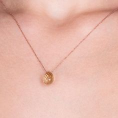 Floating Necklace Floating Charm Necklace Minimal Necklace