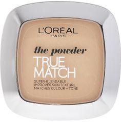 L'ORÉAL PARIS True Match -puuteri Täydellisesti ihon sävyyn mukautuva puuteri. Loreal Paris, Matcha, Beige, Color, Colour, Ash Beige, Colors