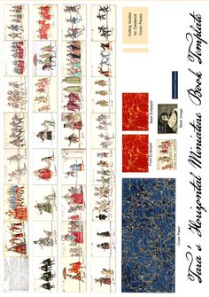 Free Miniature Book Printie of Costume Designs By Daniel Rabel from the French Court entertainments of the 1620s