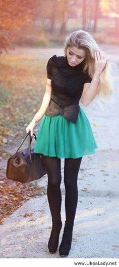 Arco azul falda