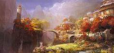 fantasy city concept art | Town Bridge Concept Art FantasyCoolvibe – Digital