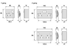 twin socket dimensions - Google Search