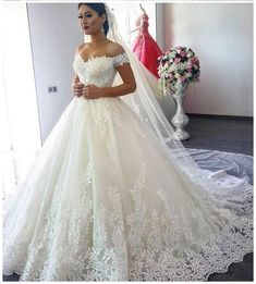 Ball Gown Wedding Dresses,Off the Shoulder Wedding Dress,Off