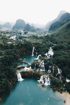 Ban Gioc Waterfall, Vietnam Posted by . (at Ban Gioc, Cao Bằng, Vietnam) Places To Travel, Places To See, Travel Destinations, Travel Photographie, Travel Aesthetic, Dream Vacations, The Great Outdoors, Wonders Of The World, Adventure Travel