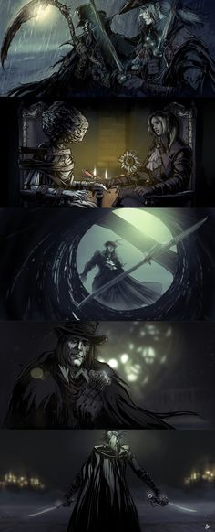 ArtStation - Illustrated Lore | Bloodborne | Lady Maria of the Astral Clocktower , Raquel Cornejo