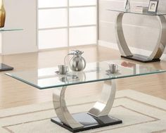 Coaster Shearwater Metal and Glass Coffee Table