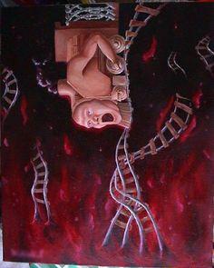 my art  これも狂気を描きたかったのですが口を開けただけの絵になってしまいました。 今も狂気には興味あります