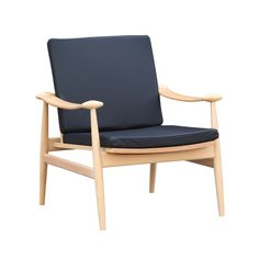 Relax in comfortable mid-century modern style with this sleek and stylish chair. Featuring a sturdy yet slender shape and a comfortable cushioned seat, it's a perfect spot for kicking back with a cocktail and enjoying the moment.