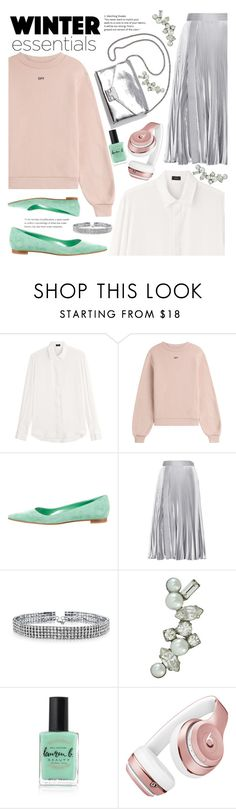 """""""Winter Essentials"""" by asya-1 ❤ liked on Polyvore featuring Joseph, Off-White, Manolo Blahnik, Christopher Kane, Loeffler Randall, Bling Jewelry, DANNIJO, Lauren B. Beauty and Beats by Dr. Dre"""