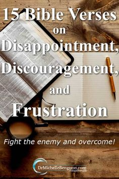 These 15 Bible Verses on discouragement, disappointment and frustration are guaranteed to change your life. Bolster your faith and fight the enemy with truths from God's Word. Motivational Bible Verses, Bible Verses Quotes, Scriptures, Disappointment Quotes, Spiritual Warfare Prayers, Scripture Images, Beautiful Prayers, Bible Encouragement, S Word