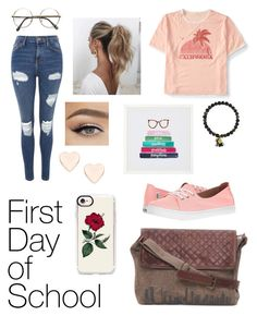 """""""Campus Life📚"""" by samseepoo ❤ liked on Polyvore featuring Topshop, Aéropostale, Vans, Casetify, Love Couture, Ted Baker and PBteen"""