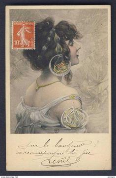 Exotic Woman, Jewels In Her Hair -  Signed FT - FERNAND TOUSSAINT - Art Nouveau - M.M. VIENNE # 324 - Postcard - Illustrators & Photographers