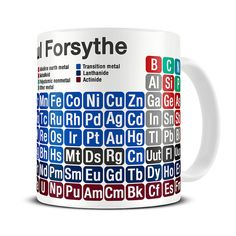 personalized periodic table of chemical elements mug chemistry gifts for scientists science gift
