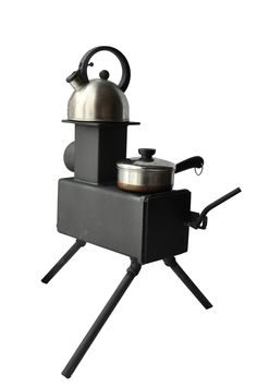 Bobcat-Rocket-Stove… This little stove / heater burns so efficiently, it burns the smoke! Perfect for hunter's camp, tail gating, survival heating.
