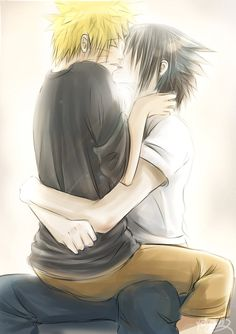 I just merge the two images between SasuNaru with Yin Yang... I think they are fit to use that symbol ... they are opposite each other but also complement each other, that is SasuNaru ... Naruto (c...