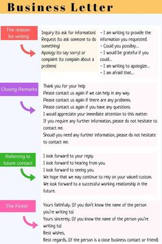 How to Write an Effective Business Letter in English – ESL Buzz You are in the right place about trade school career ideas Here we offer you the most beautiful pictures about the career ideas bulletin English Letter Writing, English Writing Skills, Writing Words, English Lessons, Essay Writing, Writing Tips, Business Writing Skills, English English, Formal Letter Writing Format