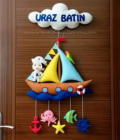 Uraz Abdomen sentit l& du marin de la porte - Kapı Süsü manualidades meninas Felt Crafts Dolls, Felt Crafts Patterns, Felt Crafts Diy, Diy Crafts Hacks, Felt Diy, Felt Dolls, Baby Crafts, Handmade Crafts, Crafts For Kids