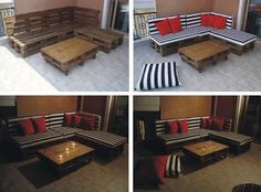 Diy Pallet Couch...couch idea for my new sunroom