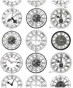 Free coloring page coloring-difficult-anciennes-montres. Ancient Engraving of old watches, very diverses in their styles. To print and color Old Clock Tattoo, Vintage Clock Tattoos, Clock Tattoo Design, Forearm Tattoo Design, Tattoo Designs, Free Coloring Pages, Printable Coloring Pages, Compass Tattoo, Time Piece Tattoo