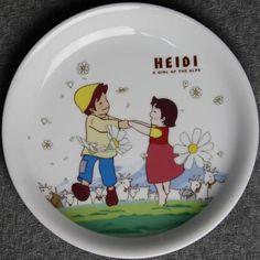 Heidi Girl of The Alps Ceramic Plate Ghibli Figure | eBay