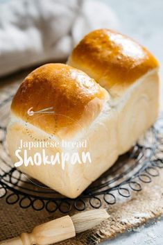 Shokupan is the soft and fluffy Japanese milk bread made by the Yudane method! Learn how to make the bread with step by step photo instruction. Milk Bread Recipe, Bread Recipes, Baking Recipes, Banh Mi Bread Recipe, Asian Bread Recipe, Shokupan Recipe, Japanese Milk Bread, Japanese Food, Bread Tin