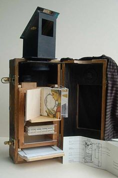 Camera Obscura by Susan Collard // hand built camera obscura that allows one to view their surroundings and read books in a more intimate manner