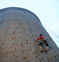 things to do in Berlin: rockclimbing at Cassioea. It's a conical concrete bunker left over from World War II.
