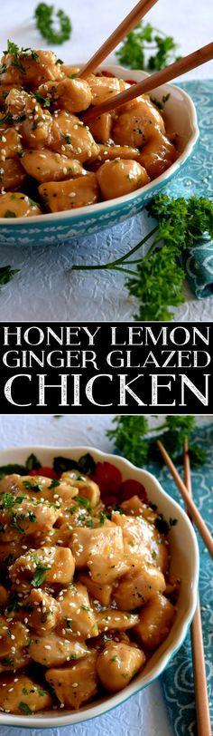 Honey Lemon Ginger Glazed Chicken
