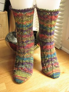 Hand knitted wool socks £10.00