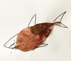 Leaf Art, Leaves, Artwork, Animals, Work Of Art, Animales, Auguste Rodin Artwork, Animaux, Artworks
