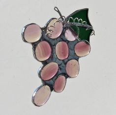 Bunch of Grapes Stained Glass Suncatcher
