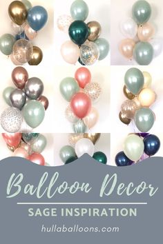 Sage Green Balloon Decorations Baby Shower Balloons Wedding Balloons Happy Birthday HullaballoonsParty on Etsy Baby Shower Balloon Decorations, Baby Shower Balloons, Birthday Decorations, Wedding Decorations, Balloon Decoration For Birthday, Metallic Balloons, White Balloons, Floating Balloons, Colorful Birthday Party