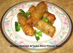 Baked Shrimp & Taro Rice Paper Roll