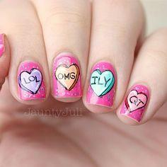 20  Cute Valentines Nail Art Designs