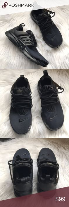 Nike Air Presto Sneakers Youth Presto Sneakers Style: 833875-003 All black New with original box Size 5 Youth, fits a woman's 6.5 Nike Shoes Sneakers