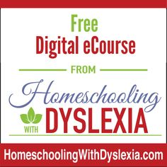 From getting started homeschooling kids who learn differently to determining learning styles, choosing a homeschool method and curriculum and how to set goals, stay on track and get it all done. Homeschooling With Dyslexia FREE Digital eCourse