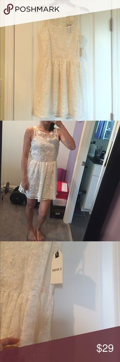 Forever 21 floral cream lace dress Beautiful dress. Forever 21 Dresses