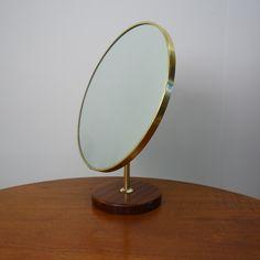 Buy retro 1960s teak table top mirror by Shreiber from Mark Parrish Mid Century Modern Furniture, Midcentury Design.
