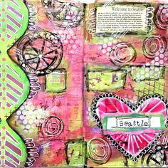art journal page ideas: artandwhimsy's photo on Instagram