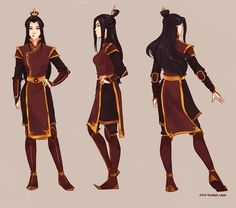 "This is some awesome concept art of ""Honora,"" Zuko's daughter who's currently ruling the Fire Nation. (No, Honora isn't her confirmed name, it's what fans came up with because Zuko is so obsessed with honor). I hope we get to see her in the second season of Korra!"