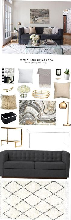 A neutral luxe living room redo by Homepolish gets recreated by copycatchic for less  budget home decor and design looks for less get the look Artwork For Living Room, Living Room Redo, Most Beautiful Pictures, Cool Pictures, Get The Look, New Experience, Neutral, Budget, Pillows