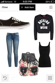 For ppl who don't like what ppl wear here is a out fit that kinda still looks stylish