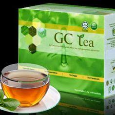 GC Tea atau boleh dikenali juga Glucos Cut Tea atau Teh Sekat Gula adalah mengandungi 100% bahan herba semulajadi.Mengadaptasikan konsep herbal tea formula dengan menawarkan pendekatan yang komprenhensif untuk menyekat lemak dan penyerapan gula berlebihan serta menguatkan sistem penghadaman perut.Ia juga merupakan penawar terbaik bagi mengatasi masalah kencing manis ( diabetis ) dan dapat membantu mengatasi serta mengawal masalah berat badan berlebihan