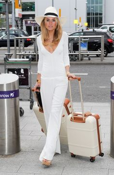 KIMBERLEY GARNER at Heathrow Airport in London