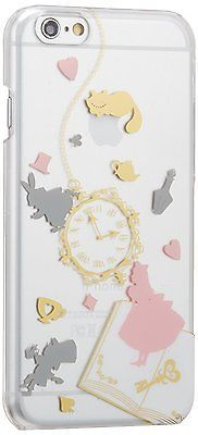"""Alice in Wonderland Disney iPhone 6s 4.7"""" Clear Hard Case Cover Party Japan F/S"""